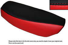 RED & BLACK CUSTOM FITS YAMAHA FS1 E DUAL LEATHER SEAT COVER