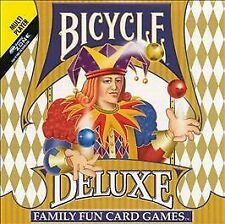 Bicycle Deluxe Family Fun Card Games Jewel Case - Windows NEW