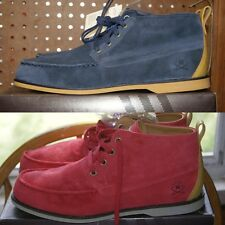 Adidas Bluff Mid Suede Red Blue Gold Shoes Sz 11 or 11.5 or 12 or 13 Chuckas