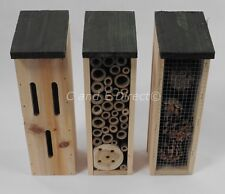 Set 3 Insect Hotel Houses Insect Habitat Nest Box Ladybird Butterfly Bee Hotel