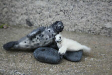 Grey seal and pup needle felting kit DIY suitable for beginners