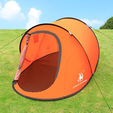 Gazelle Camping Hiking Easy Fold Automatic Setup Pop Up Instant Large Dome Tent