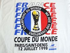 Vintage France FIFA World Cup Champions 1998 90's Soccer Football NWT T Shirt L