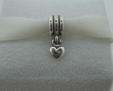 Genuine Authentic Pandora Sterling Silver 925ALE Dangle Heart Bead/Charm
