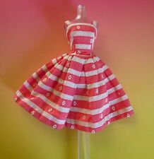 VINTAGE MATTEL BARBIE 956 BUSY MORNING COTTON SUN DRESS SOLD in 1963 ONLY!