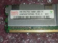 Hynix hymp525f72cp4n3-y5-ac-c 2gb 2rx4 Pc2-5300f 667 Mhz Ecc Servidor Memoria