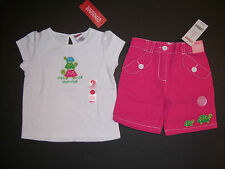 NWT Gymboree Tennis Match 2T Short Stack Turtle Tee Top & Pink Bermuda Shorts