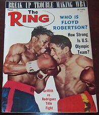 The Ring Magazine August 1964 Griffith vs Rodrigues Collectable