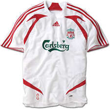 "EX! Liverpool FC 2007/2008 Away Shirt White (L 42"" 44"") Adult Mens Adidas 07/09"