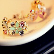 New Fashion For Women Lady Elegant Crystal Rhinestone Ear Stud Earrings