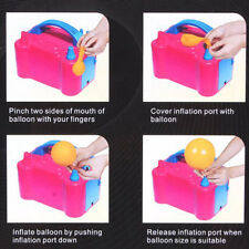 Hot Electric Balloon Inflator Pump Two Nozzle High Power Air Blower Portable FT