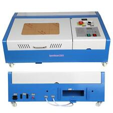 Upgrade 40W USB CO2 Laser Engraving Cutting Machine Engraver Cutter 4 Wheels