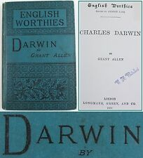 CHARLES DARWIN*1888*BIOGRAPHY/ANCESTRY/EVOLUTIONARY MOVEMENT HISTORY/REVOLUTION