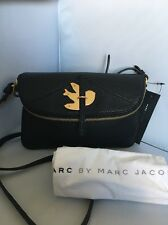 NEW MARC by MARC JACOBS Petal to the Metal Bird Crossbody Flap bag BLACK GOLD