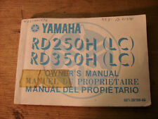 Yamaha RD250H (LC)/ RD350H(LC)  Motorcycle Owners Manual 5E1-28199-60