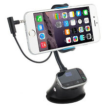 Car Kit Holder Charger FM Transmitter Handsfree Call For iPhone 7 Plus 6S Phone