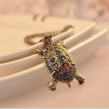 Lovely Vintage Turtle Pendant Personality Bohemia Pendant Necklace Jewelry FT63