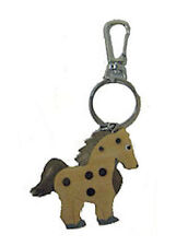 JAYCEE HORSE & WESTERN GIFTS ACCESSORIES WOODEN PONY KEY CHAIN KEY RING c