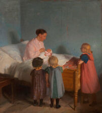 Little Brother Anna Ancher Mutter Wochenbett Kinder Säugling Bruder B A3 00530