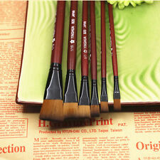 Hot Sale 6Pcs Nylon Acrylic Oil Paint Brushes For Artist Supplies Watercolor Set