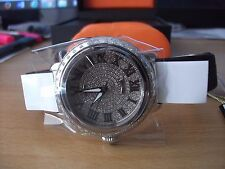 Glam Rock Women's Bal Harbour Stainless Steel Watch with Black Silk Strap
