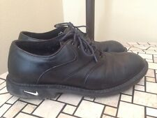 "NIKE mens golf shoes "" Kempshall Last"" Black Leather Sz 8 M"