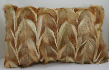 Kit Fox  Sections Fur Pillow  Real New made in usa authentic fur cushion