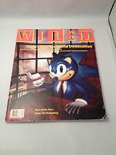 WIRED MAGAZINE, 1993 Issue 1.06  December  Sonic the hedge hog. Sega Games