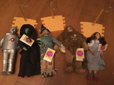 1987 Turner Presents Hamilton Gift Wizard of Oz Doll Set 5 Dolls & 3 Road Stands