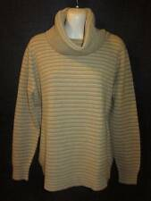 Jaeger Made in Great Britain 100% Cashmere Vintage Camel Striped Sweater 40""