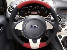 Genuine Ford Ka Leather Steering Wheel - Black/Red Leather/Pearl White (1573500)