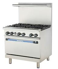 "RADIANCE 36"" RESTAURANT RANGE WITH 6 BURNERS GAS - TAR-6"