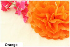 "12"" Orange Tissue Paper Pom Poms Flower Ball Wedding Birthday Party Decoration"