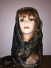 Long Black Scarf Hijab Wrap Sheer very pretty and fashionable Last 1!