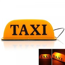 Magnetic Roof Top Taxi Cab Car Sign Lights Yellow 12V   SKU: Q00405YE