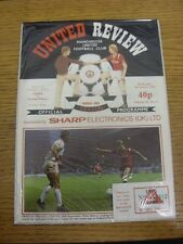 09/10/1985 Manchester United v Crystal Palace [Football League Cup] [With Specia