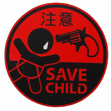 Save Child JDM Round stickers decal racing funny warning sign infant baby in car