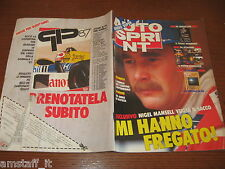 AUTOSPRINT 1988/1=PARIGI-DAKAR=NIGEL MANSELL=BARBRO PETERSON=JABOUILLE=