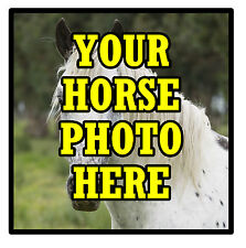 YOUR OWN HORSE PHOTO PERSONALISED SET OF 4 COASTERS - BRAND NEW - GIFT / PRESENT