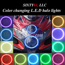 Suzuki GSXR 1000 2007-2008 Dual LED Color changing Angel Eyes halos lights rings