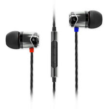 SoundMagic E10C Mic In Ear Earphones in Black & Silver Headphones Buds Canal