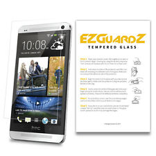 2-Pack EZguardz Premium Tempered Glass Screen Protector For HTC One M7