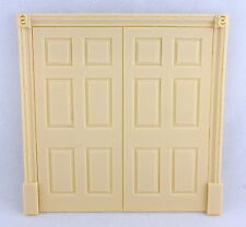 Dolls House Regency Double Door False 6 Panel Interior Resin Miniature Doors