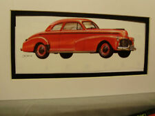 1943 Chevrolet Coupe      Artist Auto Museum Full color artist Illustrated