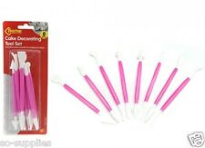 16 CAKE DECORATING TOOLS MODELLING SET CRAFT ICING CUPCAKE BAKING SUGARCRAFT POP