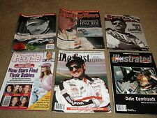 6 MAGAZINES WITH TRIBUTES TO DALE EARNHARDT S.I. NASCAR ILLUS. SPORT NEWS PEOPLE