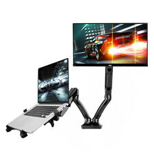 "Dual-arm Desktop Monitor Mount Laptop Holder Workstation Stand Computer 10""-27"""