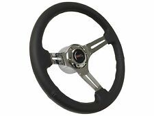 1969 - 1989 6 Bolt Black Leather Steering Wheel Kit with GMC Emblem