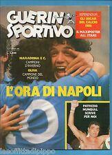 GUERIN SPORTIVO-1987 n.3- MARADONA L'ORA DI NAPOLI - CHINAGLIA - FILM CAMPIONATO