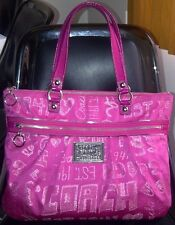 Authentic COACH POPPY GLAM METALLIC STORYPATCH LARGE TOTE BAG PURSE 15301 PINK
